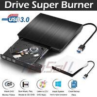 USB 3.0 External CD/DVD-RW Writer Drive Burner Reader Player For Mac PC Laptop