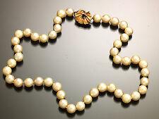 Calidad 1 Natural Perlas Gargantilla Con 14K Oro Amarillo Zafiro Azul Nouveau