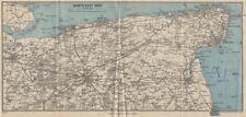 NORTH-EAST KENT. Thanet Faversham Canterbury Sandwich Ramsgate Margate c1962 map