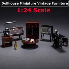 6Pcs/Set Mini Janpanese Doll House Miniature Vintage Furniture Set In 1:24 Scale