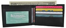 Men's Small Genuine Soft Leather Slim Thin Compact Bifold Wallet