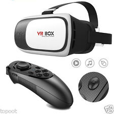 VR BOX Virtual Reality 3D Glasses Games BT Remote Control For Smartphone
