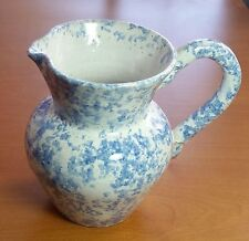 COLE Pottery Sanford NC Kenneth George Signed Southern Folk 1989 Blue White