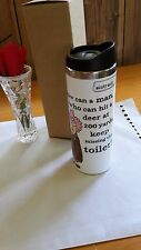 Aunty Acid 18-8 Double Wall Stainless Tumbler 14 oz. Miss the Toilet #C1219-B
