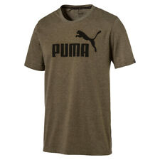 PUMA ESS Essential No.1 Heather Logo Tee T-Shirt Dry Cell 838243 46 olive