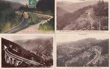 Lot 4 cartes postales anciennes AMBERT ligne chemin de fer vers LA CHAISE-DIEU