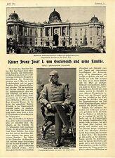 Kaiser Franz Josef I. von Oesterreich und seine Familie Histor. Memorabile 1900