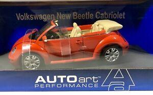 AUTOart 1:18 VW Volkswagen New Beetle Cabriolet - Sundown Orange BRAND NEW
