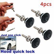 4 Push Button Quick Release Hood Bonnet Pins Lock Clip Auto Car Bumper Latch Kit