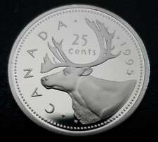 1995 Canada Steel Proof 25 Cents - Uncirculated Quarter from Set