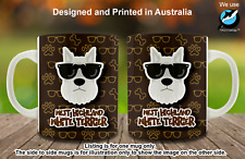 West Highland White Terrier Hipster Dog Cute Cool Tea Coffee Mug Christmas gift