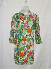 Linea by Louis Dell'Olio Tiger Lily Print Duster Size 1X White Multi