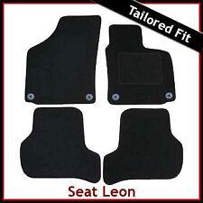 SEAT Leon mk2 2009-2013 31cm 4-ROUND occhielli su misura moquette Tappetini Auto Nero