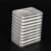100PCS Coin Square Collection Storage Single Hole 40MM Protective Paper Holders