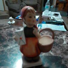 """Hummel Figurine - """"Meditation"""" Girl with Basket and Letter #13/0 Tmk-3Goebel"""