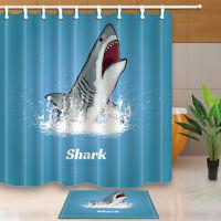 New Tree frog Curtain Shower Bathroom Decor Waterproof Fabric bath mat 71*71inch