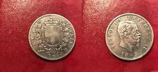 Italie Italia - 5 Lire Vittorio Emanuele 1865 N Naples TTB - Argent Silver