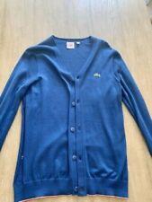 Vintage Izod Lacoste Mens Cardigan, Blue Sweater, Size 5 Mens
