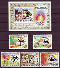 BURKINA FASO 1976;OLYMPIC GAMES;COMPL. SET OF 5 & SS;SC # 387-389,C228-C230;USED