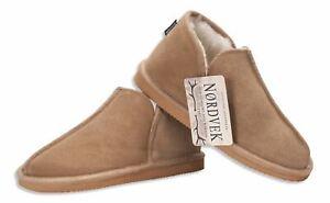 Nordvek Womens Slippers Suede Sheepskin Boots Wool Blend Real Ladies 447-100
