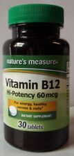 Best Deal Get TWO (2) Nature's Measure - Vitamin B-12 (60 mcg) 30 count = 60