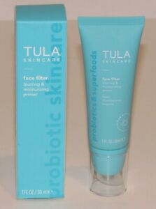 Tula Skincare Face Filter Blurring & Moisturizing Primer 1 Oz 30 mL NIB
