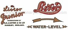 Lister A & B Stationary Engine Hopper Cooled Transfer / Decal Set Lister Decals