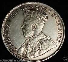 1918 CANADA 50 Cents. Fifty Cents . Half Dollar.  Silver Coin