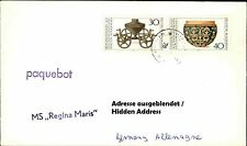 PAQUEBOT Langstempel MS REGINA MARIS Schiffspost Brief Shipletter Seamail Cover
