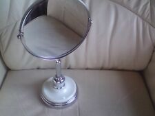 Vintage Style Magnification  Swivel  Rimmed Mirror -used,35.5 CMS HIGH APPROX