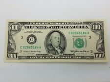 1985 One Hundred $100 Dollar Bill Federal Reserve Note Series **Philadelphia**