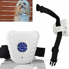 Ultrasonic Anti No Bark Barking Pet Dog Training Control Collar NEW
