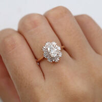 1.60 Ct Oval Cut Diamond Engagement Rings For her 14K Yellow Gold Size M N O P Q