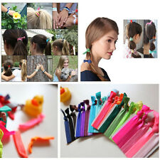 20Pc Colorful No Crease Magic Hair Ties Band Ponytail Fashion Bracelet Rope