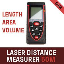 Laser Distance Measurer Meter 50m/131ft Area Volume Range Finder Accuracy ±2mm