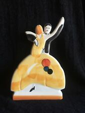 """CLARICE CLIFF STYLE """"AGE OF JAZZ"""" DANCERS FLATBACK  by PAST TIMES"""