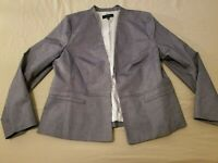 Womens Talbots Jacket Blazer 16 Gray
