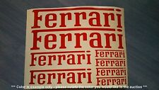 Ferrari Emblems / Stickers / Decals assorted - 8 total, multiple colors
