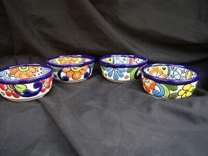 4pc Talavera Bowls Soup Cereal Pozolero Kitchen Mexican Pottery Folk Art