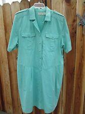 Dresses ELIZABETH Liz Claiborne Size 20 Casual Turqouise Dress 100% Cotton