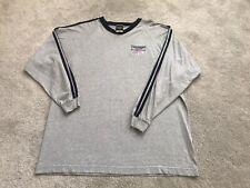 New ListingTriumph Motorcycles Long sleeve Embroidered Logo T Shirt Mens Sz 2Xl Gray Biker