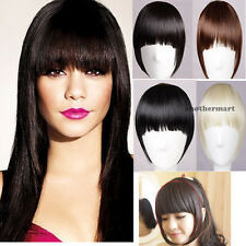 US All Colors Gorgeous Natural Clip on in Front Neat Bang Fringe Hair Extensions