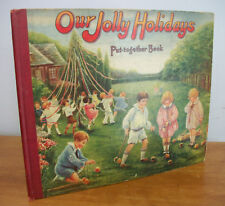 1928 OUR JOLLY HOLIDAYS Put-Together Book by Crofts