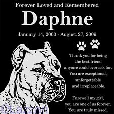 Personalized Cane Corso Italian Mastiff Pet Memorial 12x12 Granite Grave Marker