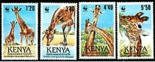 Kenya 1989 Mi481-84 mnh Giraffes WWF