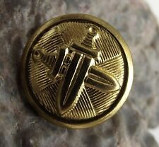 Czechoslovakia Army Armed Forces Metal Crossed Sword Uniform Tab Buttons 1.6cm