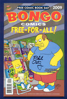 Bongo Comics FCBD 2009 Edition Simpsons Signed Phil Ortiz