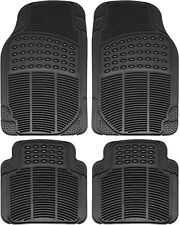 Car Floor Mats for Kia Soul 4pc Set All Weather Rubber Semi Custom Fit in Black
