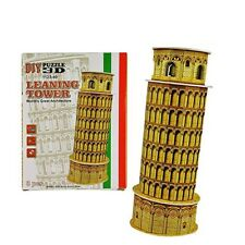 3D Leaning Tower of Pisa Building Toy DIY Paper Puzzle Models for Kids