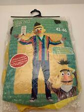 Sesame Street Bert Halloween Cosplay Costume 3-D Plush Headpiece Adult LG 42-46